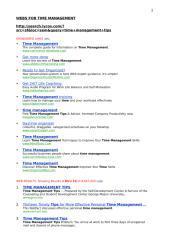 WEBS FOR TIME MANAGEMENT.doc