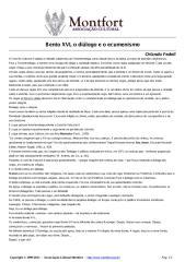 Bento XVI o Diálogo e o Ecumenismo - Orlando Fedeli.pdf