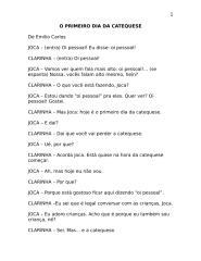Texto teatral - O PRIMEIRO DIA DA CATEQUESE.doc
