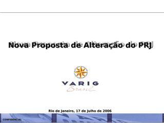 Apresentação Final dos Credores da VARIG