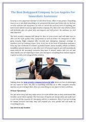 The Best Bodyguard Company In Los Angeles For Immediate Assistance.docx