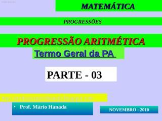 apresentação 3- pa - novembro 2010.pps