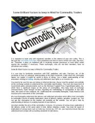 Some Brilliant Factors to keep in Mind for Commodity Traders.pdf