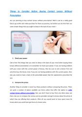 Things to Consider Before Buying Contact Lenses Without Prescription.pdf