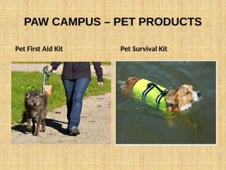PAW CAMPUS – PET PRODUCTS.pptx
