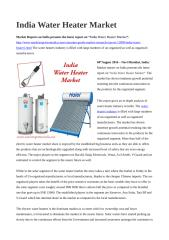 India Water Heater Market.doc